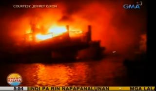 Passenger Ship Catches Fire at Navotas Port, Manila