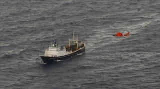 Forty-six people rescued from sinking fishing vessel in Bering Sea