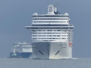 Cruise season peaks at the Port of Kiel with four ships at once