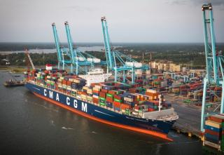 Biggest vessel to call U.S. East Coast comes to Virginia first