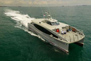 Incat Crowther Delivers First Pair of 20m Catamaran Passenger Ferries to Nigeria