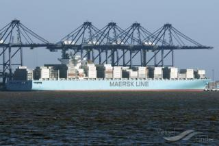 Container ship Maersk Genoa in collision with freighter Dan Fighter near port of Antwerp (Video)