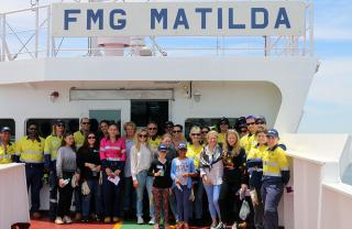 Port Hedland and Forrest family welcome arrival of FMG Matilda