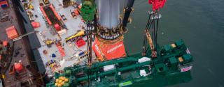 Heerema's Aegir Installs Cutterladder into World's Most Powerful Cutter Dredger Spartacus