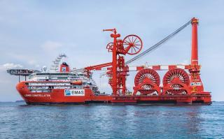 "EMAS AMC's Subsea Construction Vessel ""Lewek Constellation"" Sets Industry Pipelay Record"