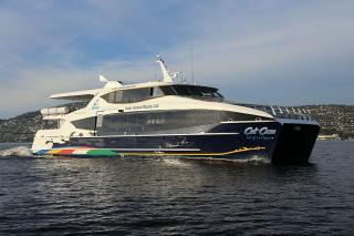 Ferry Isle of La Digue launched - The first vessel to feature Incat Crowther's innovative new generation propeller tunnel