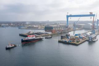 "LNG-operated survey vessel ""ATAIR"" floated out in German Naval Yards in Kiel"