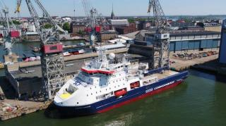 Arctech Helsinki Shipyard delivered a new icebreaking standby vessel