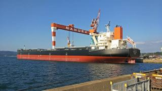 The latest addition to MOL's fleet, coal carrier NAGARA MARU, to serve JERA Trading