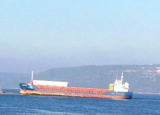 Freighter Aground in the Dardanelles