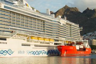 Coral Methane successfully executes LNG bunkering operation on AidaNova, the world's first LNG cruise ship