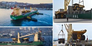 AAL delivers 13 giant haul trucks for Siberian mining project (Video)