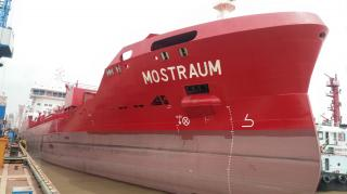 FKAB Delivers a 10 500 DWT Stainless Steel Tanker - MT Mostraum