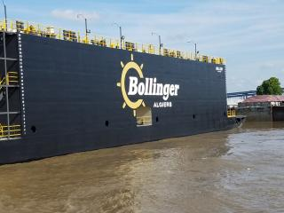 Bollinger announces arrival of 4,000-ton drydock at the Bollinger Algiers facility