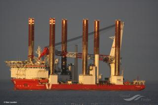 Installation Vessel MPI Adventure Erected The Last Turbine At Sandbank Offshore Wind Farm