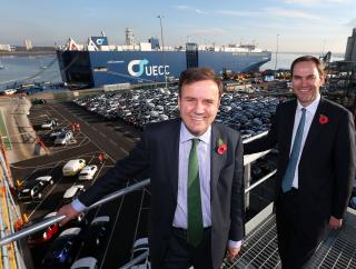 New vehicle export terminal in the Port of Southampton opened by International Trade Minister