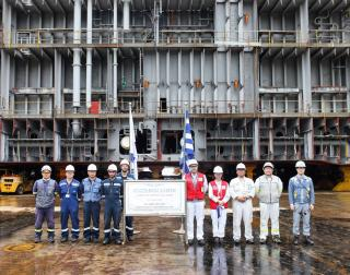 GasLog lays keel for new LNG carrier at Samsung Heavy Industries shipyard
