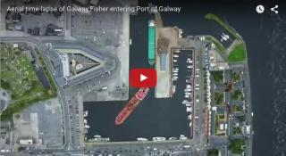 Aerial TimeLapse: Galway Fisher enters Port of Galway