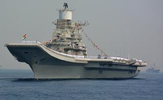 India's largest naval ship, the aircraft carrier INS Vikramaditya, arrives in Maldives