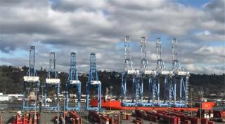 WATCH: New cranes arrive at The Northwest Seaport Alliance