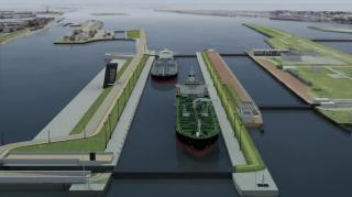 VIDEO: New lock for Port of Amsterdam - coal port