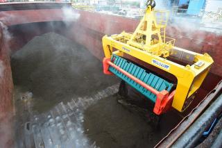 APM Terminals Poti, Georgia commissioned a new, state-of-the-art, revolving spreader to load copper concentrate into bulk vessels