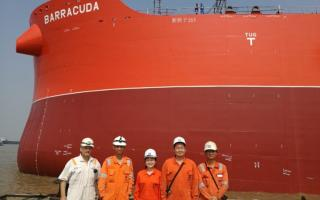 Klaveness combination carrier Barracuda leaves drydocks - one step further towards completion