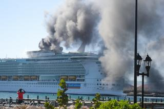 VIDEO: Fire on RCI's Freedom of the Seas in Jamaica, cruise to continue