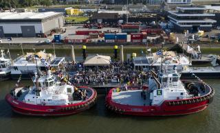 "Kotug Smit Towage performs naming ceremony for tugs ""Rotterdam"" and ""Beagle"""