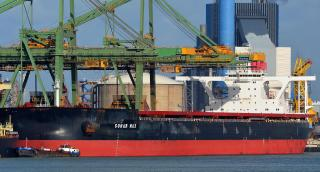 Sohar Max, first fully laden Valemax to discharge iron ore in China