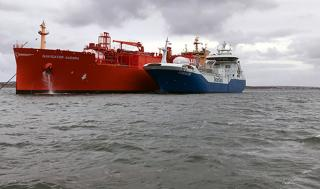 Skangas' vessel Coralius successfully completes its first combined cooldown and fuel operation at sea