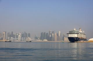 TUI cruise ship Mein Schiff 4 docks at Doha Port, marking its maiden call to Qatar