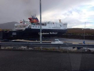 Caledonian MacBrayne's ferry Hebrides carrying nearly 80 passengers smashes into harbour wall