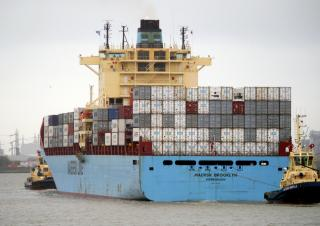 Maersk Brooklyn disabled in the English Channel