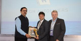 "Höegh awarded ""Shipping Line of the Year - RoRo Operator"" in India"