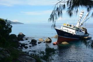 South Korean fishing vessel runs aground; Seychelles authorities plan salvage