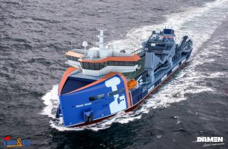 Damen unveils New Marine Aggregate Dredger for mining sand and gravel offshore