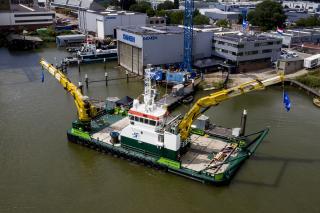 Third S. T. Marine Support Multi Cat names at Damen Shipyards Hardinxveld