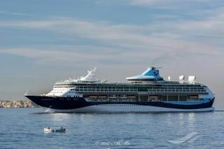 Cruise ship TUI Discovery 2 sails into Gibraltar