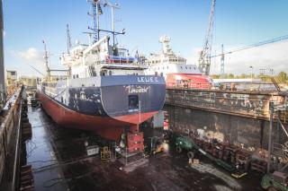 Cement Carrier 'Lelie C' returns to Damen Shiprepair Oranjewerf for additional tank capacity