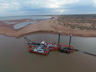 Maritime Constructions has taken delivery of a Damen CSD500 dredger and a Multi Cat 1506