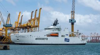Colombo Dockyard Delivers KDDI Cable Infinity Built for Kokusai Cable Ship Co.Ltd. Japan