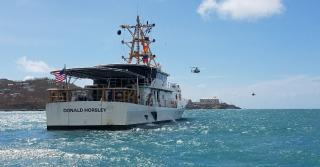 US Coast Guard cutters support Hurricane Irma relief efforts in the US Virgin Islands