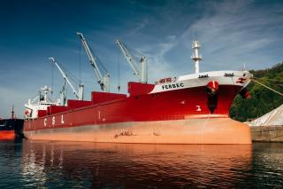 The largest conventional geared bulk carrier in the Canadian domestic fleet now operating for CSL