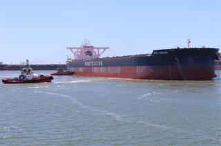 Fortescue Metals Group celebrates arrival of ore carrier FMG Grace