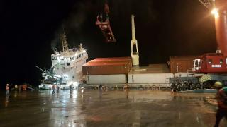 Spotted: General cargo ship CYGNUS lost stability at berth, Guatemala