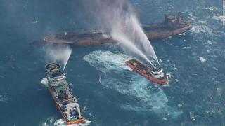 Update: Explosion on Iranian oil tanker Sanchi forces rescue team to retreat