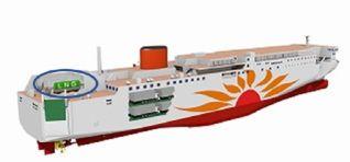 MOL Group to Build Japan's 1st LNG-fueled Ferries: Sunflower Kurenai and Sunflower Murasaki