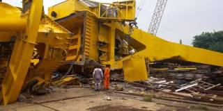 VIDEO: At least 11 workers crushed to death after crane collapsed in Visakhapatnam shipyard, India