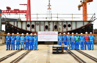 Keel-laying milestone for UECC's third LNG battery hybrid PCTC